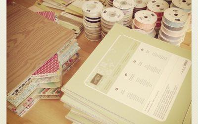 Papier und Bänder