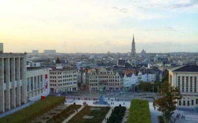 Über den Dächern von Brüssel