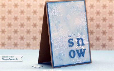 Weihnachtskarte – Serene Snowflakes