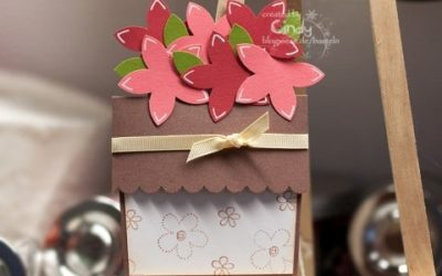 Blumentopfkarte – zum Geburtstag