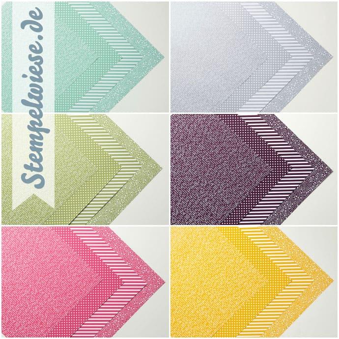 Gemusterter Designerpapier Share - Musterpakete 2015