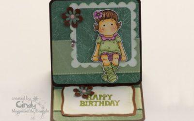 Geburtstagskarte – Easel Card – Berry Tilda