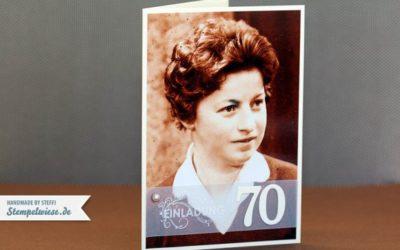 Einladungskarte zum 70. Geburtstag