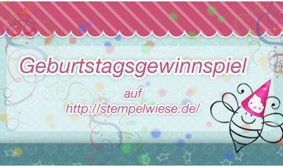2 Jahre Stempelwiese – BDay Candy Gewinnspiel
