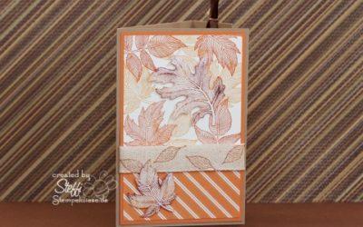 Geburtstagskarte – Herbstlich
