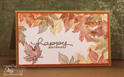 Geburtstagskarte mit witzigem Hirsch