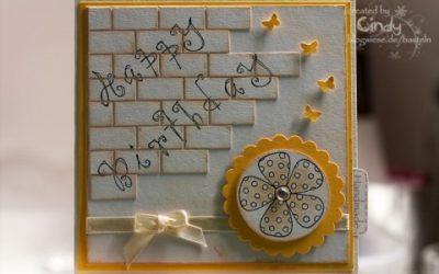 Geburtstagskarte – Brick Wall