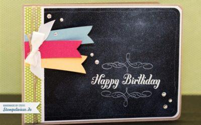 Geburtstagskarte – Chalkboard Technique