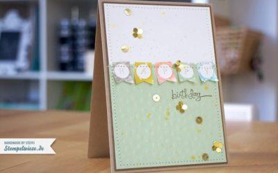 Geburtstagskarte mit Gold
