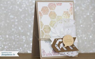 Geburtstagskarte – Glitzerpapier Regenbogen