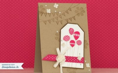 Geburtstagskarte – Patterned Party in Pink