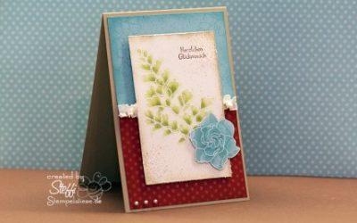 Geburtstagskarte embosst
