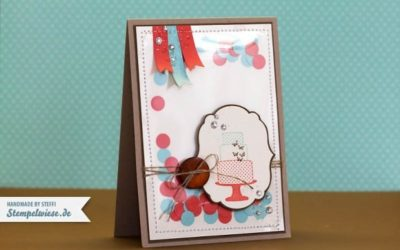Geburtstagskarte mit eingenähtem Konfetti
