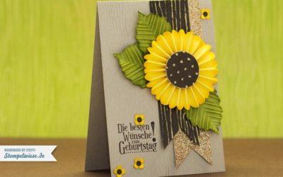 Geburtstagskarte mit Sonnenblume