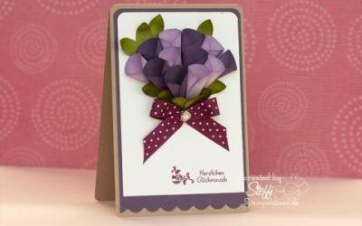 Glückwunschkarte – 3D Blume