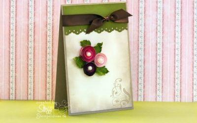 Glückwunschkarte – 3 Rosen