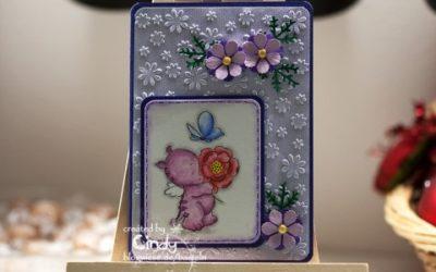 Glückwunschkarte – Smookie mit Blume