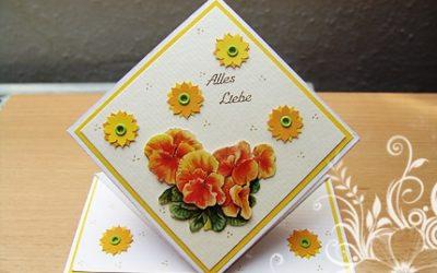 Glückwunschkarte – Springkarte