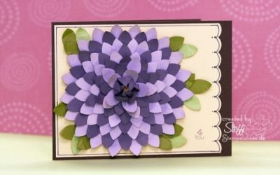 Grußkarte mit einer Chrysantheme