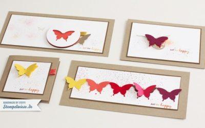 Karten mit elegantem Schmetterling