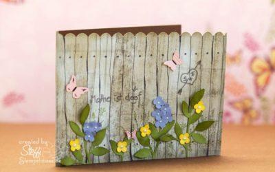 Grußkarte in Holzoptik