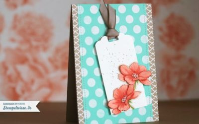 Glückwunschkarte mit Peaceful Petals