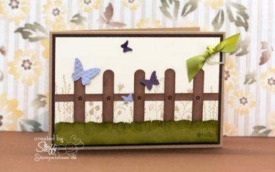Grußkarte – mit Zaun