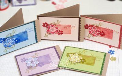 Glückwunschkarte in verschiedenen Farbvarianten