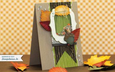 Herbstzauber – Grußkarte mit Liebe gemacht