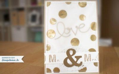 Hochzeitskarte in Gold und noch mehr Gold