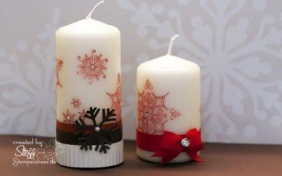 Kerzen bestempeln und verzieren