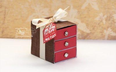 Kommode aus Schachteln – Matchbox