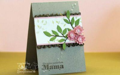Muttertagskarte – zarter Zweig