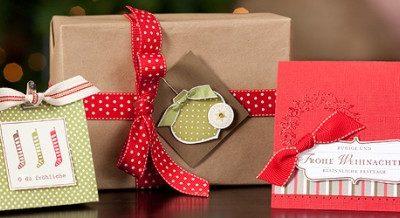 Perfektes Päckchen für Weihnachten + Band gratis