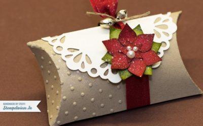 Weihnachtliche Pillow Box