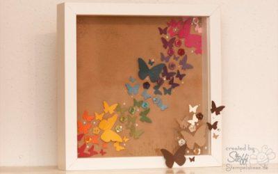 Buntes Treiben – Schmetterlinge als Regenbogen
