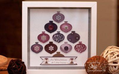 Weihnachtsdeko – Rahmen mit Ornamentstanze