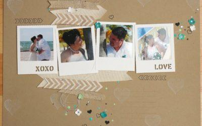 Scraplayout mit Hochzeitsfotos