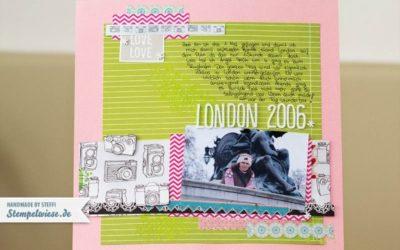 Scrapbook Seite – London 2006