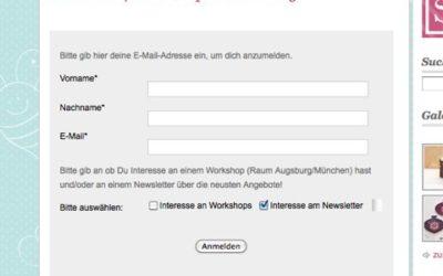 Newsletter und Workshoptermine