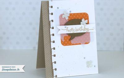 Geburtstagskarte mit Sprechblasen