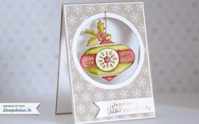 Weihnachtskarte mit Christmas Bauble