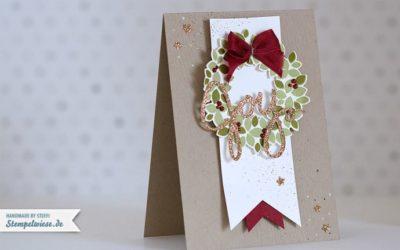 """Weihnachtskarte mit """"Willkommen, Weihnacht!"""""""