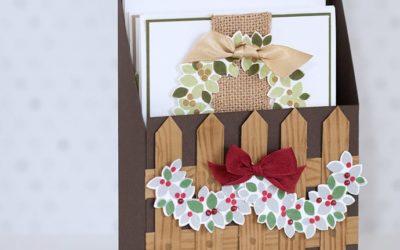 Weihnachtskarten im Set verpackt