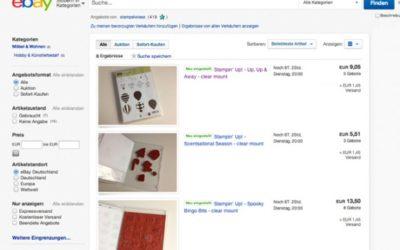 eBay – Stempelsets in Holz