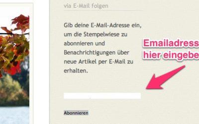 Per Email die neusten Beiträge von Stempelwiese