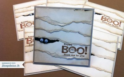 Halloween – Happy Boo – Mumienkarte