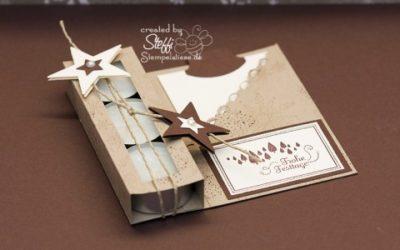 Teelichtkarte – Frohe Festtage