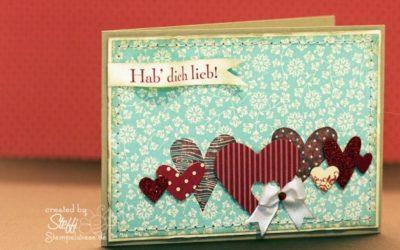 Valentinskarte – Auf die Liebe