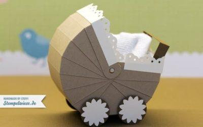 Kinderwagen aus Papier – Ideal für kleine Geschenke